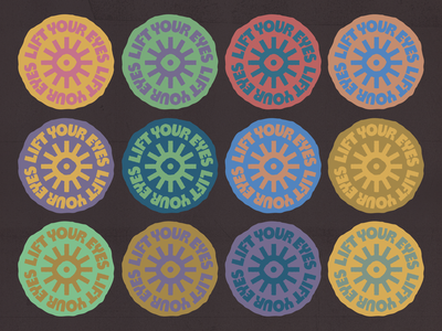⚫☁️👁️☀️⚪ sticker patch badge type badge custom type eye album artwork lift your eyes