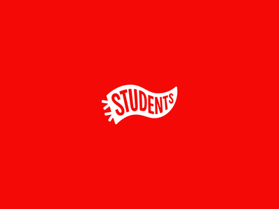 CP Students highschool students brand church identity identity red flag logo pennant church youth students