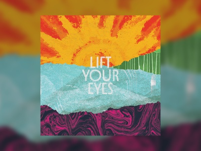 Lift Your Eyes texture collage music packaging acoustic encouraging lift your eyes record album album artwork