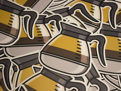Sticker Mule Coffee 02 sticker mule sticker coffee print brew yummm josiah z.
