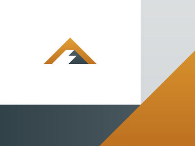 ACS_01 mountains roofing a icon brand identity colorado claims logo