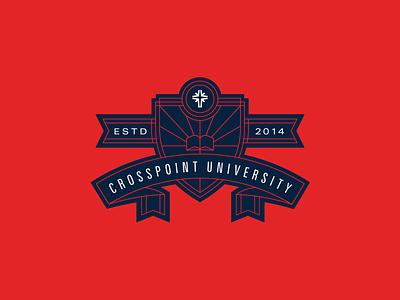 CP University Crest established badge crosspoint school study bible crest university seal