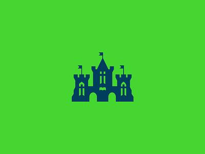 CP Castle church imagination fun children brand identity castle logomark logo
