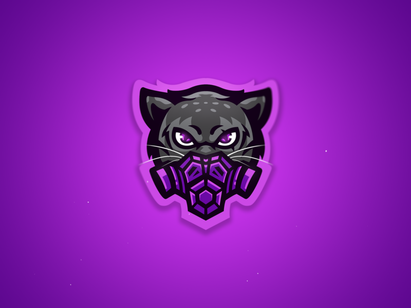 Panther with a mask design illustrator mascot logo mascotlogos illustration purple mascotlogo panther