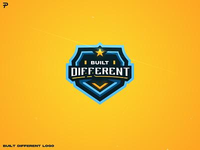 Built Different team logo illustrator logo design illustration mascot logo