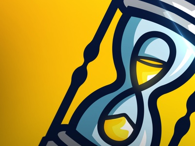 Hourglass hourglass logo design mascotlogo mascot logo