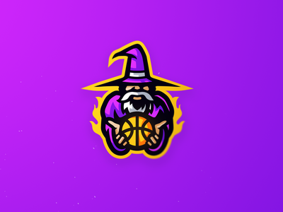 Wizard mascot logo basketball wizard illustration design mascotlogo