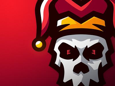 JesterHat Skull jester hat skull logo skull mascot logo design illustration mascotlogo