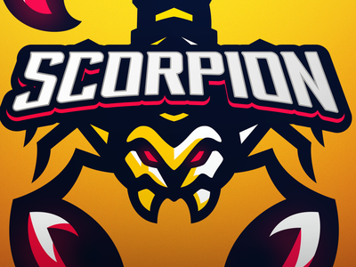 Scorpion branding illustrator logo scorpion mascot logo