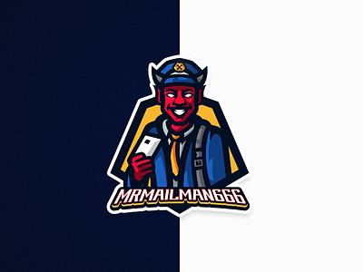 Demon Postman design branding illustrator illustration logo postman demon mascotlogo mascot logo