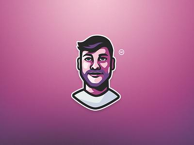 WEBB Face Mascot Logo 100t illustrator mascot logo logo design illustration mascotlogo facemascot