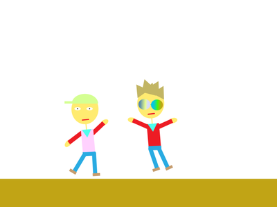 Two boys dansing boys design cute kids illustration illustration