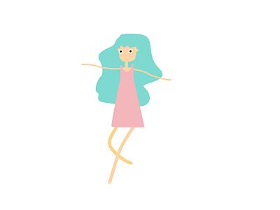 Girl design girl cute kids illustration illustration