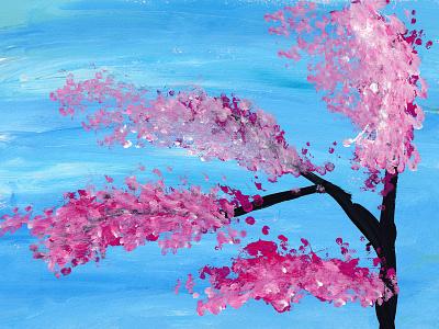 Sakura 2021 art sketch gouache sakura kids illustration illustration