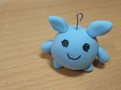 Alien 01 2021 blue cute character design character handmade clay alien crafts