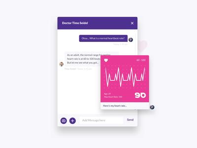 Liquid Design System – Beating Hearts ❤️ heart beat sport fitness health care health design system design animation chat bot doctor app doctor chat desktop web app ui ux