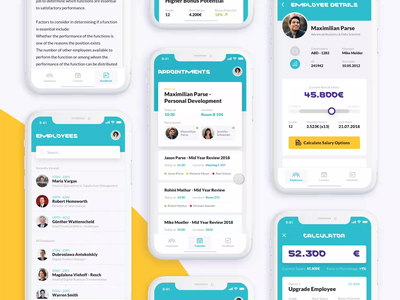 What you can do with Liquid – Vol. 3 salary calculator human resources hr healthcare ui ux manager management application app react native mobile dashboard what you can do with liquid liquid design system