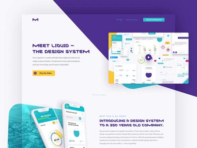 Liquid Design System Landing Page Relaunch