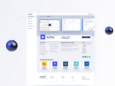 Scolary – En Detail 🔬 digital tools productivity lab scientific fields healthcare life science search discovery working design system desktop web app ui ux graphic illustration tools laboratory science