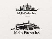 Molly Pitcher Inn logo Before & After