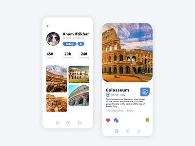 Travel App UI Design travel app travel graphic app app designer app design ui uiux design ui design mockup