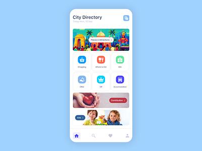 City Directory-Travel App UI Design app app designer app design ui uiux design ui design mockup
