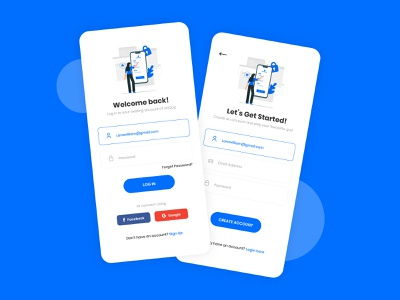 Sign Up & Sign In Screens UI Design branding app designer app design ui uiux design ui design mockup