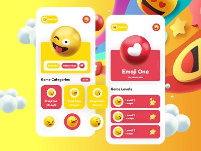 Emoji Game App UI Design ux illustration graphic app app designer ui app design uiux design ui design mockup