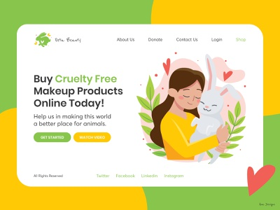 Cruelty-Free Landing Page 🦄 branding graphic app app designer ui app design uiux design ui design mockup