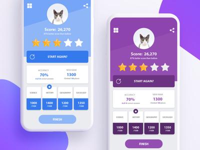 Score Screen UI Design
