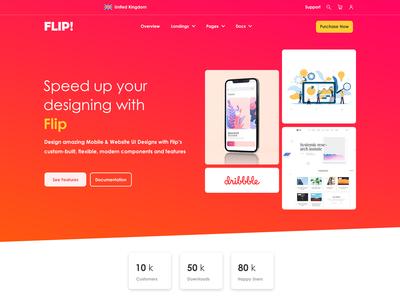 FLIP Webpage UI Design