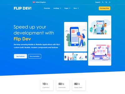 Flip Dev Web Page UI Design