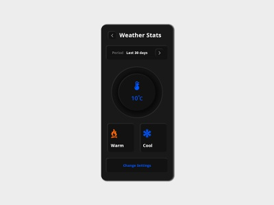 Weather App UI Trend 2020 Neumorphism (Inspiration) design app design graphic app designer mockup ui  ux design weather app ui design weather app design trend ui design neumorphism