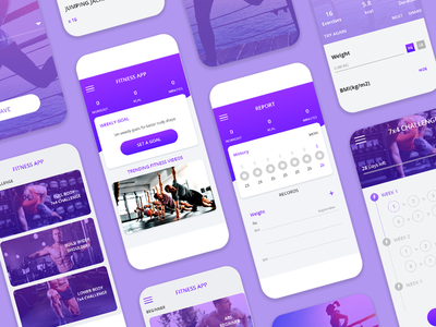 Fitness App UI Design fitnessapp fitness app app designer app design ui uiux design ui design mockup