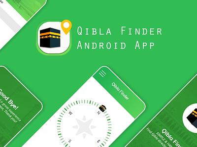 Qibla Finder App UI Design android qiblafinderapp qiblafinder qibla app app designer app design ui uiux design ui design mockup