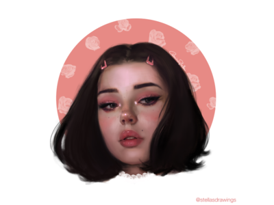 Pink vibes 💕 portrait art art photoshop web illustration
