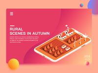 rural  scenes in autumn