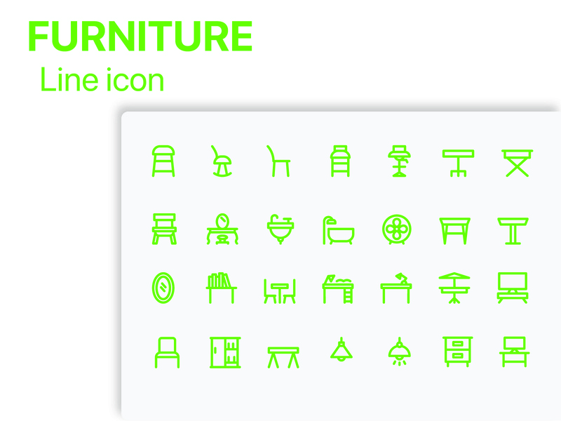 Furniture 02 icon pack