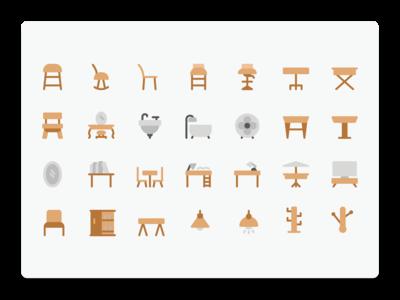 Furniture Flat icon