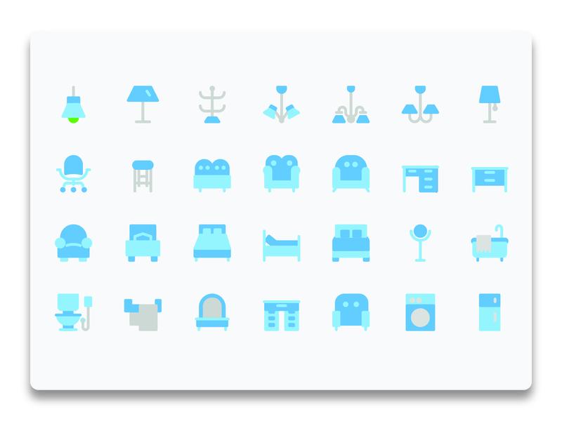 Furniture Flat Icon Set