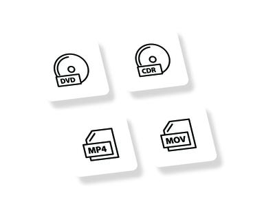 File Music Line Icon Set