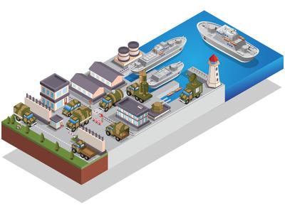 Naval base.