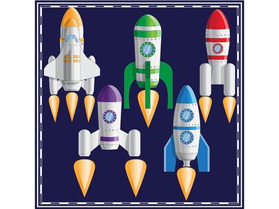 Set of spaceships.