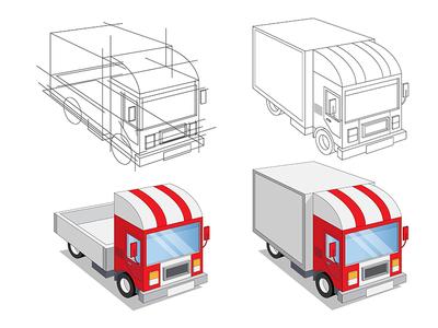 A set of funny trucks.