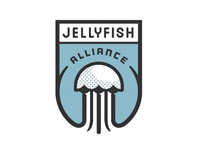 Jellyfish Alliance logo shield jellyfish water alliance team ngen works