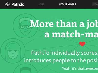 Path.To Home jobs hire illustration match character people score ui home heart