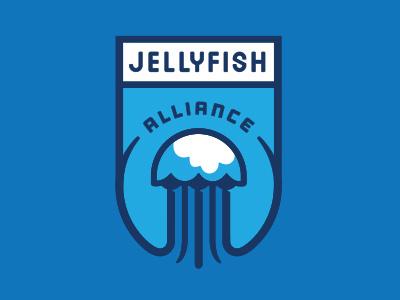 Jellyfishmodel ngen works jellyfish water shield logo team ocean enclosure