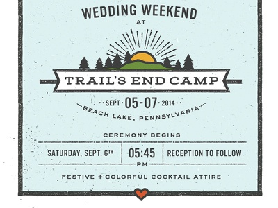 Camp Wedding Logo wedding invitations invites typography travel print grunge vintage camp mountains sunshine logo