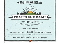 Camp Wedding Logo