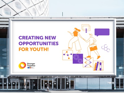 EU-Moldova: Stronger Together invite design illustration logo europe education eu europeanunion digitalegoone deo